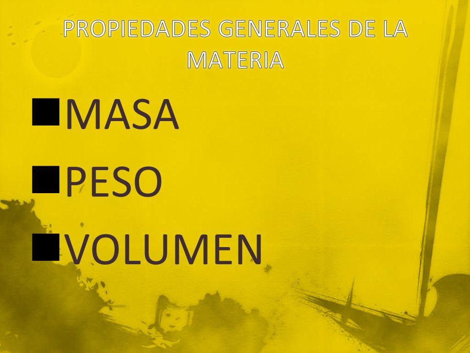 MASA PESO VOLUMEN