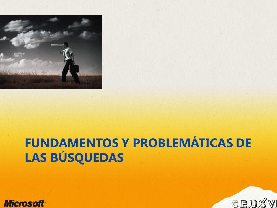 FUNDAMENTOS Y PROBLEMÁTICAS DE LAS BÚSQUEDAS 2