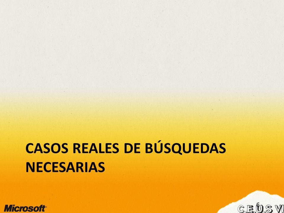 CASOS REALES DE BÚSQUEDAS NECESARIAS 6