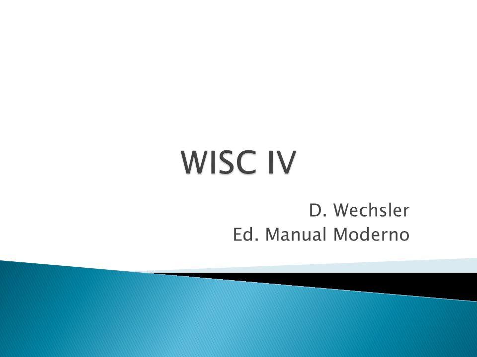 D. Wechsler Ed. Manual Moderno