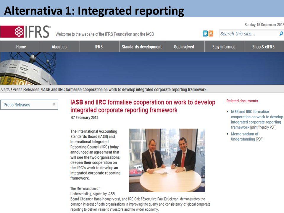 Alternativa 1: Integrated reporting