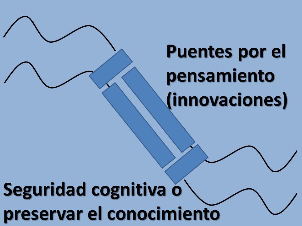 Puentes por el pensamiento (innovaciones) Seguridad cognitiva o preservar el conocimiento