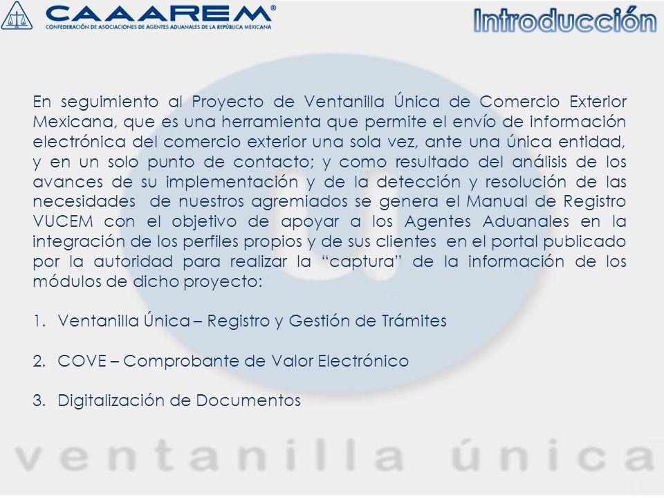 INICIO Importador/Exportador Agente Aduanal 1 1 2 2 3 3 INICIO