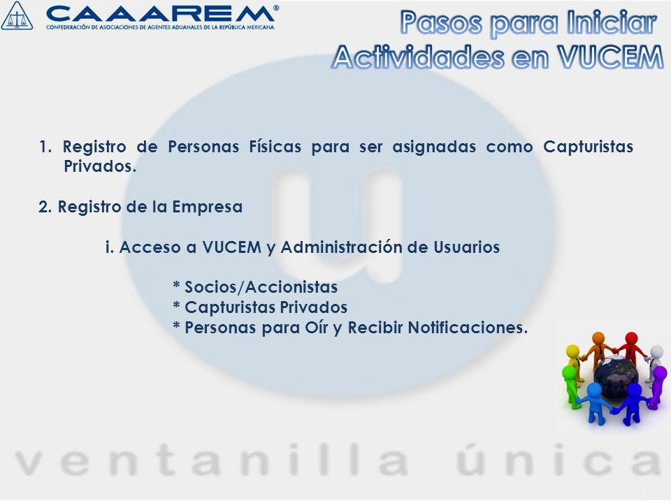 p.VUCEM genera y entrega en PDF el Acuse del Registro de Capturistas Privados.