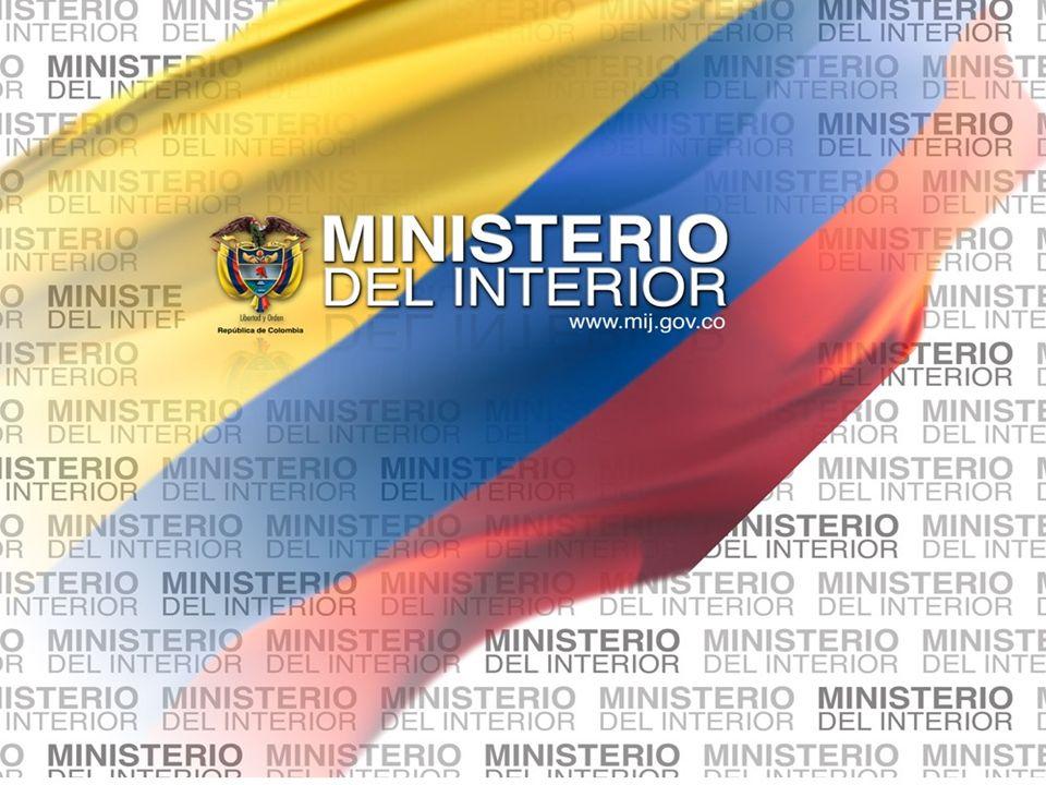 Libertad y Orden Ministerio del Interior República de Colombia Segundo paso.