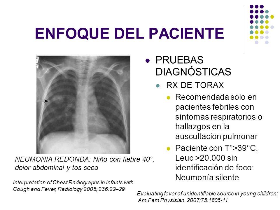 ENFOQUE DEL PACIENTE PRUEBAS DIAGNÓSTICAS PCR: >3 mg/dl : Mayor predictor de IBS que el HLG
