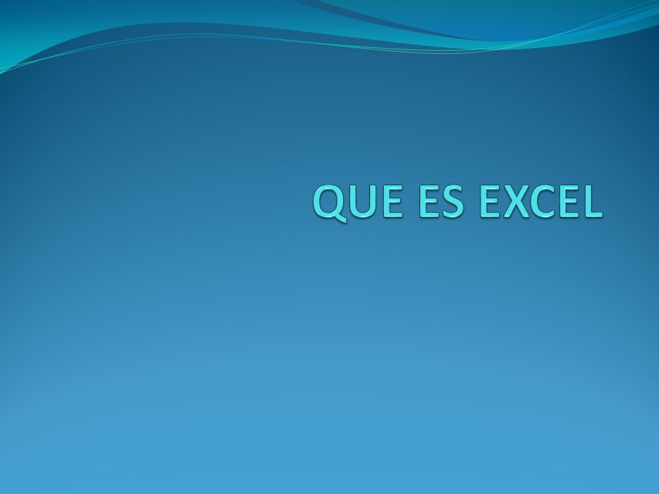Excel es un programa que permite la manipulación de libros y hojas de cálculo.