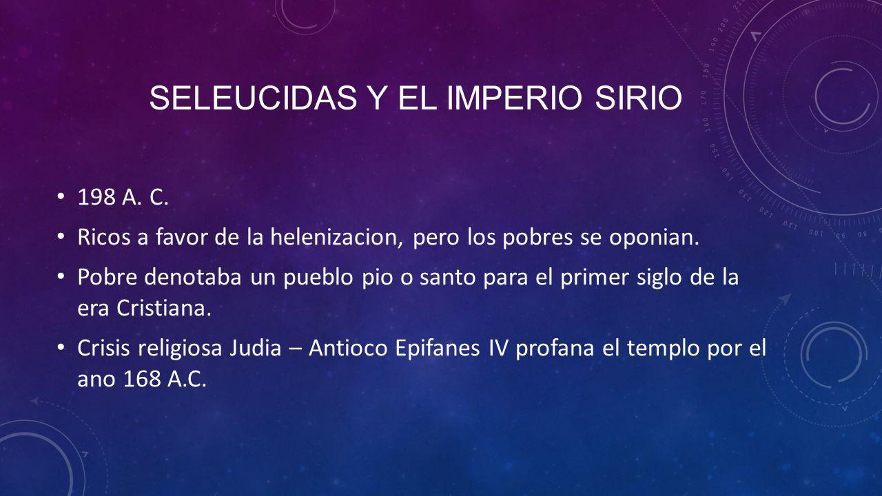 SELEUCIDAS Y EL IMPERIO SIRIO 198 A.C.