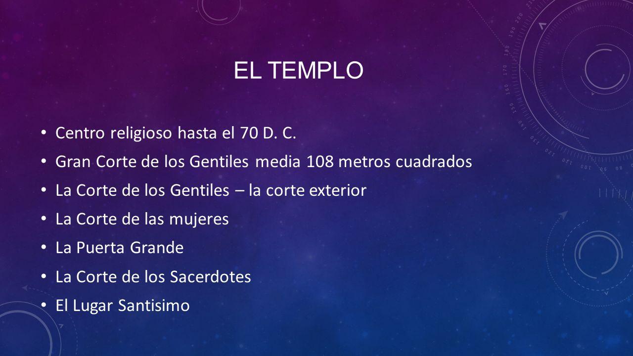 EL TEMPLO Centro religioso hasta el 70 D.C.