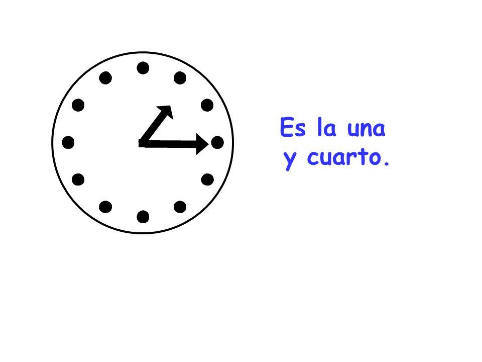 Son las dos y media.