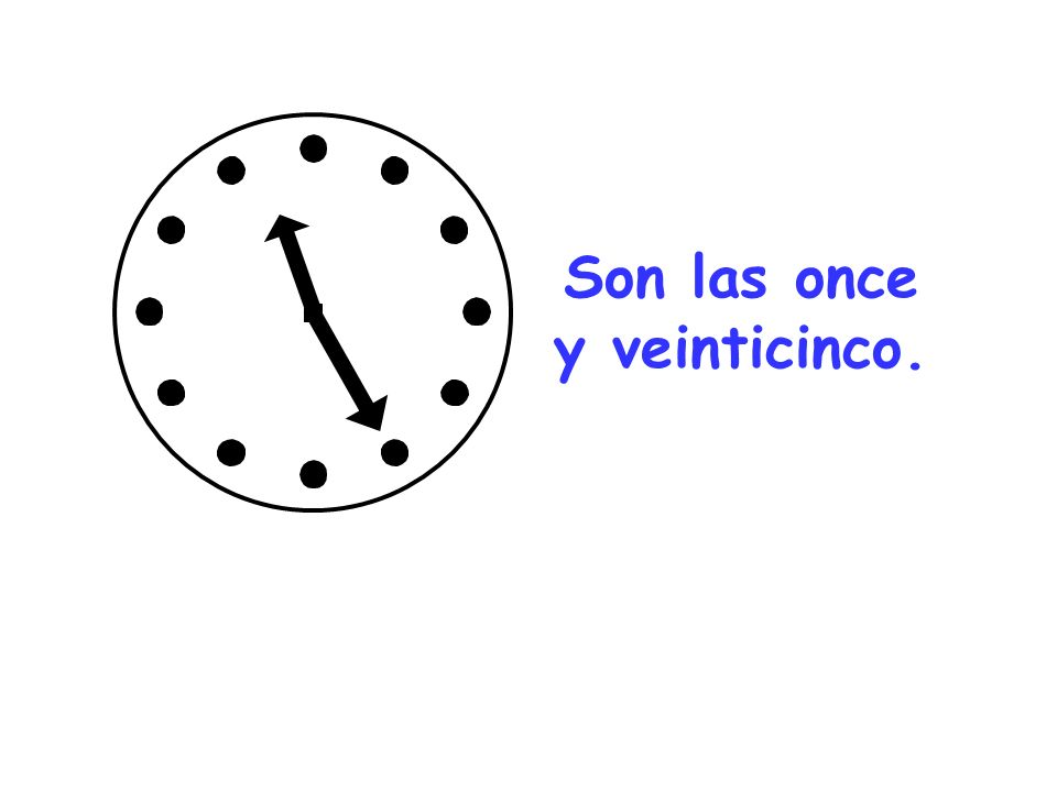 Son las cinco y diez.
