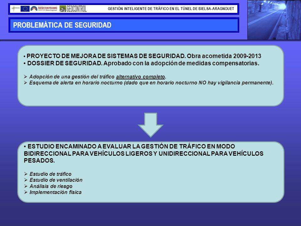 PROBLEMÁTICA DE SEGURIDAD GESTIÓN INTELIGENTE DE TRÁFICO EN EL TÚNEL DE BIELSA-ARAGNOUET PROYECTO DE MEJORA DE SISTEMAS DE SEGURIDAD. Obra acometida 2