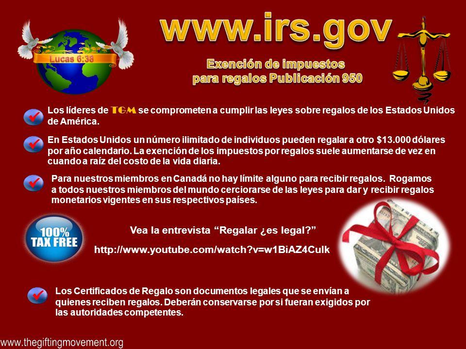Los Certificados de Regalo son documentos legales que se envían a quienes reciben regalos.