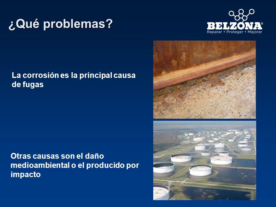 La corrosión es la principal causa de fugas Otras causas son el daño medioambiental o el producido por impacto ¿Qué problemas?