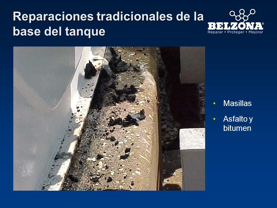 Reparaciones tradicionales de la base del tanque Asfalto y bitumen Masillas