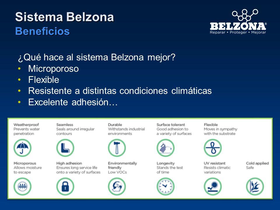 Sistema Belzona Beneficios ¿Qué hace al sistema Belzona mejor? Microporoso Flexible Resistente a distintas condiciones climáticas Excelente adhesión…