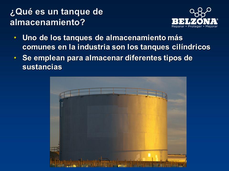 Soluciones Belzona Introducción TANQUE DE ALMACENAMIENTO Sellado de fugas mediante placas Protección interna Sellado de la base del tanque Protección externa