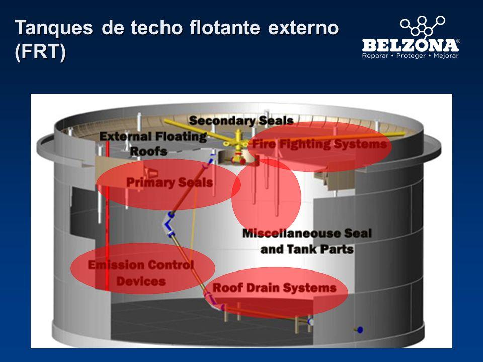 Faldas de acero Áreas problemáticas Base del tanque