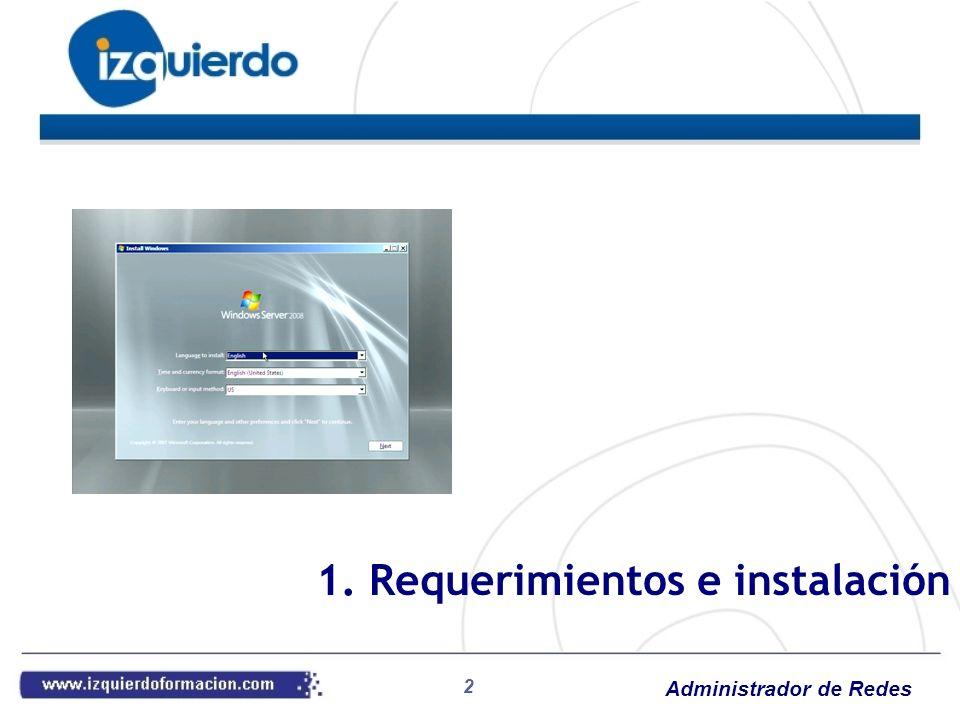 Administrador de Redes 3 Sistemas operativos de red: Servicios a usuarios Tipología: Redes igualitarias Redes cliente/servidor Panorama: Unix Linux Windows Trabajo en red 1.