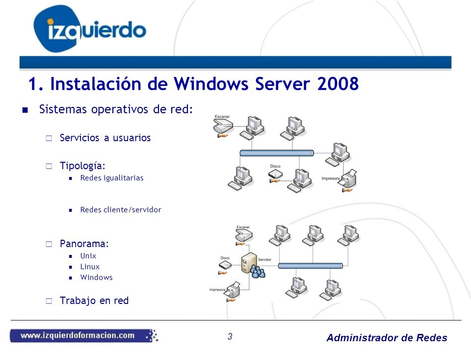 Administrador de Redes 44 6. Internet Information Services