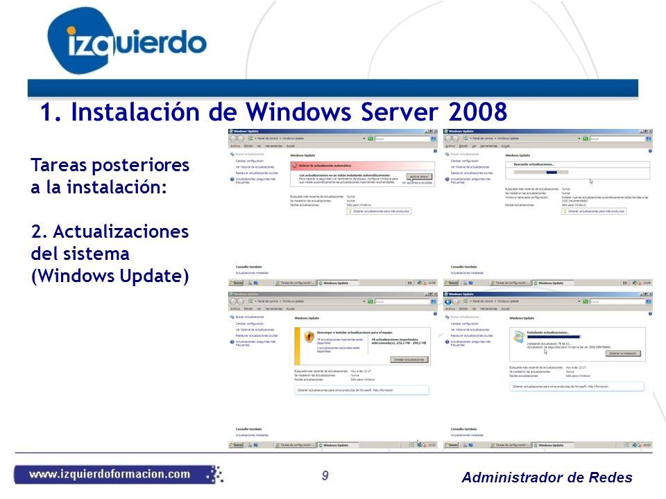 Administrador de Redes 40 Práctica 21: NAT Agregar al servidor virtual una interfaz de red conectada a la red de aulas Asegurar la conectividad del servidor Revisar las asignaciones por DHCP para el envío de servidor DNS (el 2008) y puerta de enlace (router el servidor 2008) Agregar la función Servicios de acceso y directivas de red Configurar y habilitar Enrutamiento y acceso remoto únicamente Asegurarnos la asignación a la interfaz de aulas Renovar la dirección en el cliente Windows 7 Comprobar la conectividad Revisar las estadísticas de asignación 4.