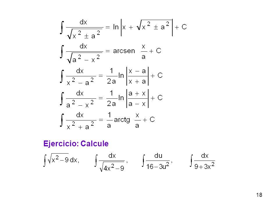 18 Ejercicio: Calcule