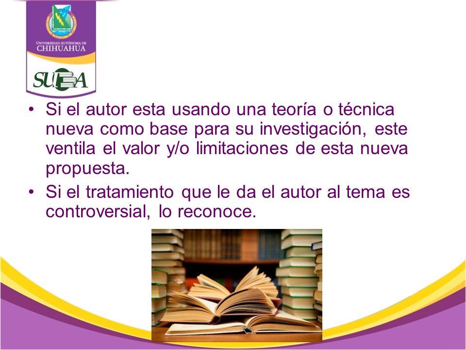 Referencia y/ o conocimiento de la literatura El documento incluye una bibliografía El autor alude a conocimiento de fuentes relacionadas con atribuci