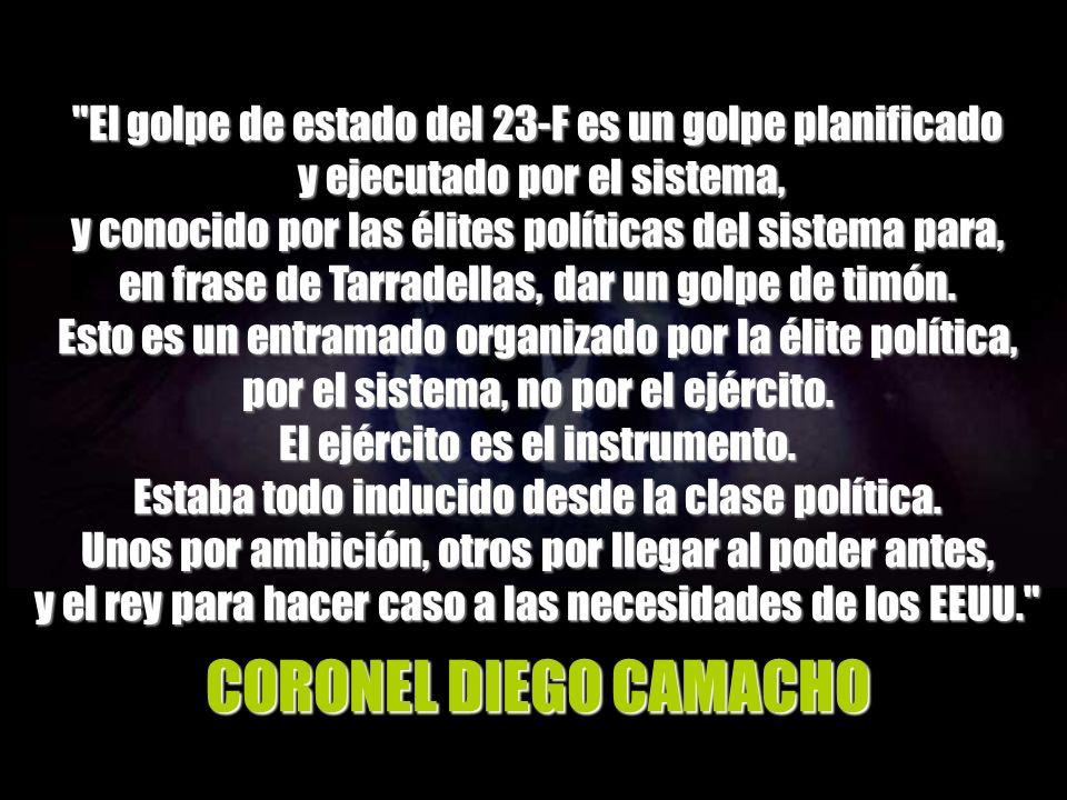 El gobierno de Salvación Nacional que Armada muestra a Tejero y provoca la indignación de este último fue el siguiente: Presidente: General Alfonso Armada.
