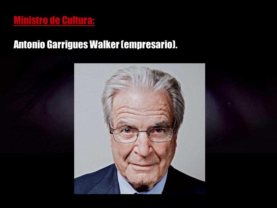 Ministro de Comercio: Carlos Ferrer Salat (CEOE).