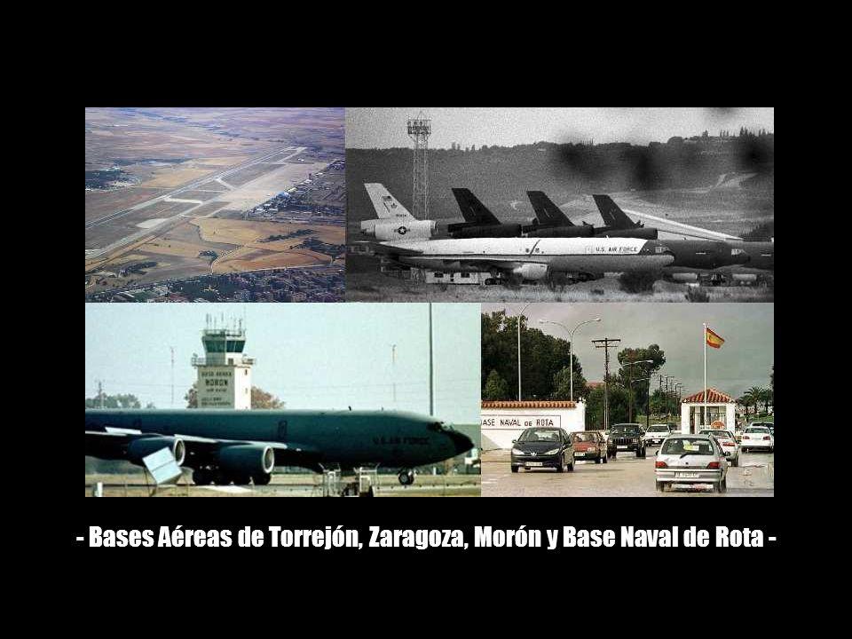 5) La alerta máxima es decretada por la USAF desde el 19 de febrero en la base de Torrejón.