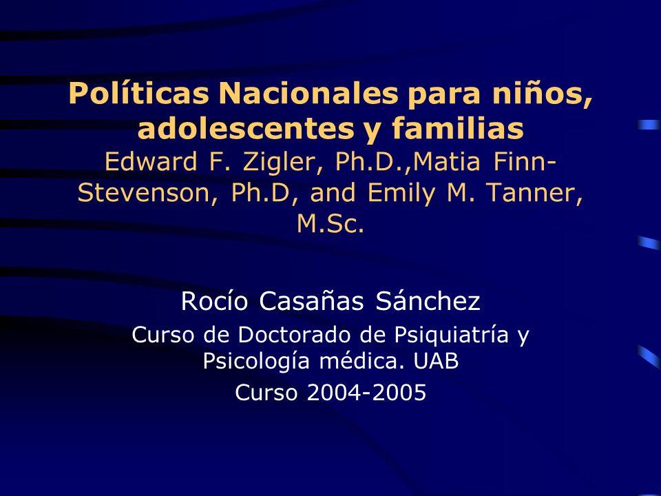 Políticas Nacionales para niños, adolescentes y familias Edward F.