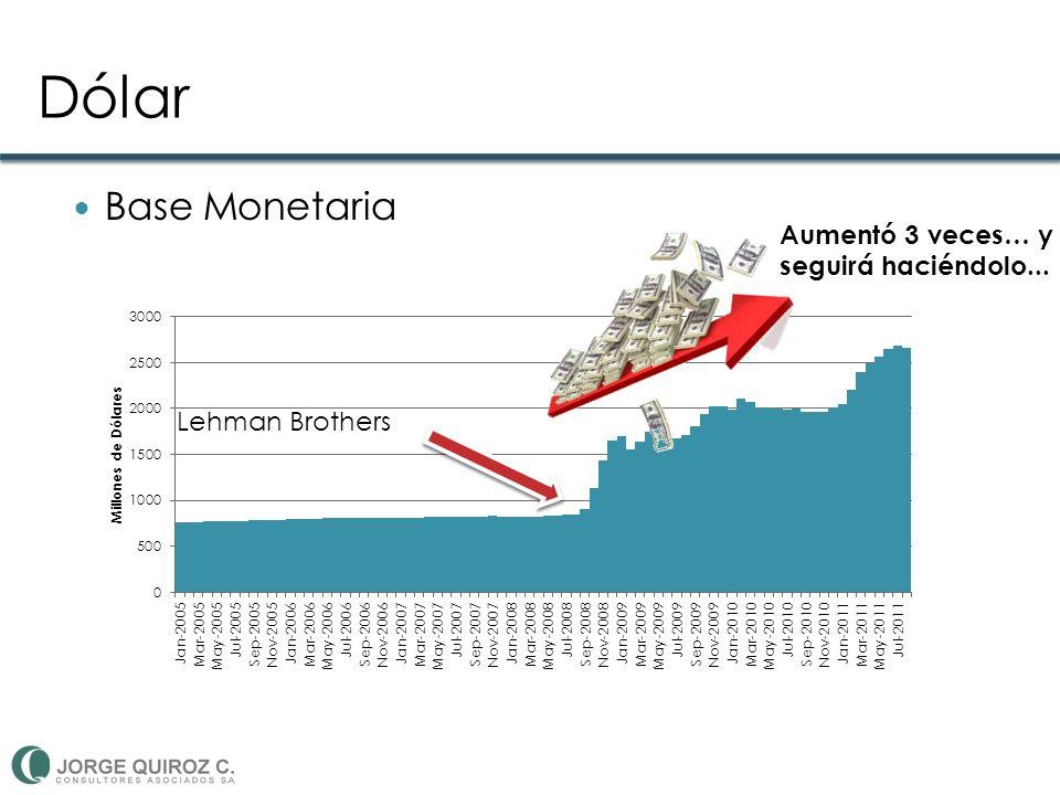 Dólar Base Monetaria Aumentó 3 veces… y seguirá haciéndolo... Lehman Brothers