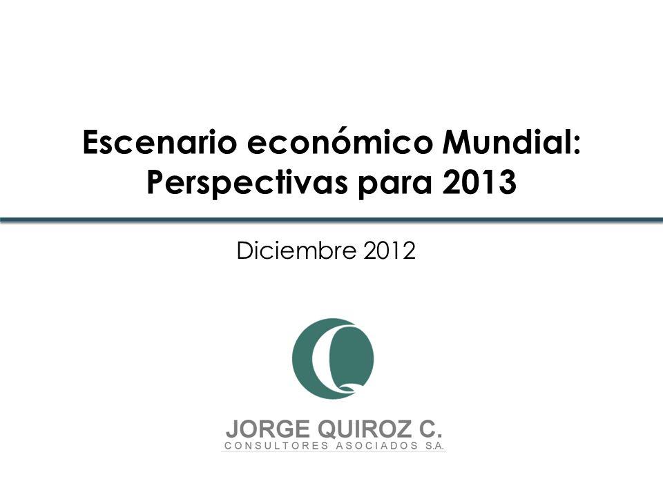 Diciembre 2012 Escenario económico Mundial: Perspectivas para 2013