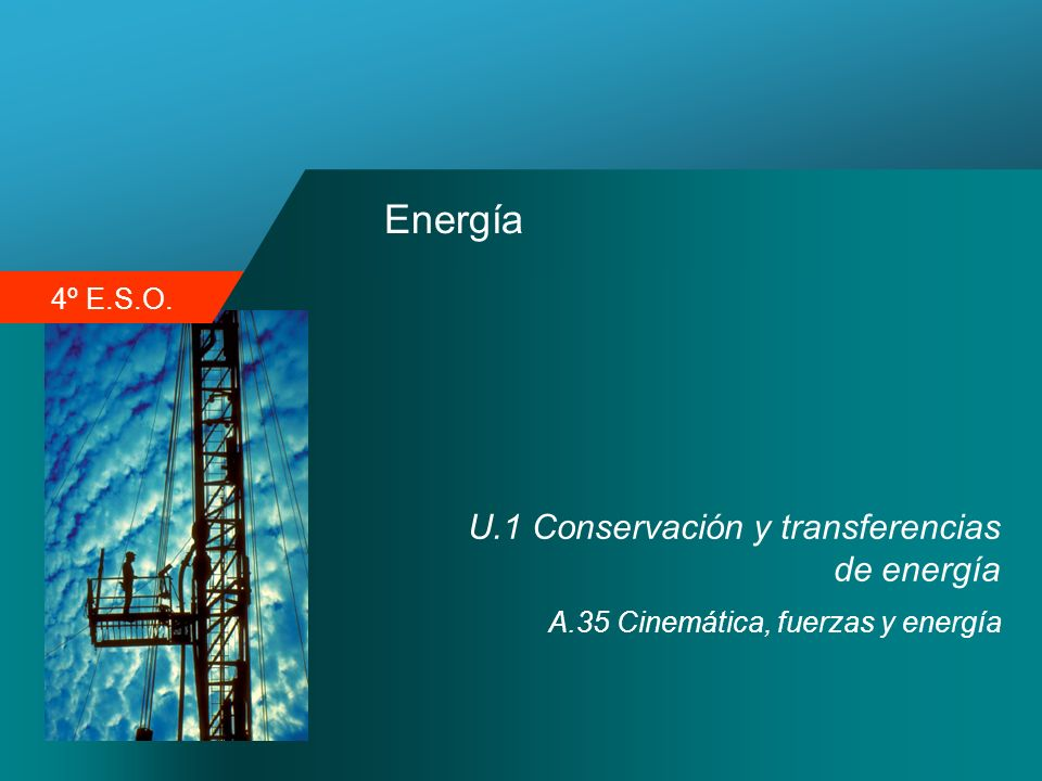 4º E.S.O. Energía U.1 Conservación y transferencias de energía A.35 Cinemática, fuerzas y energía