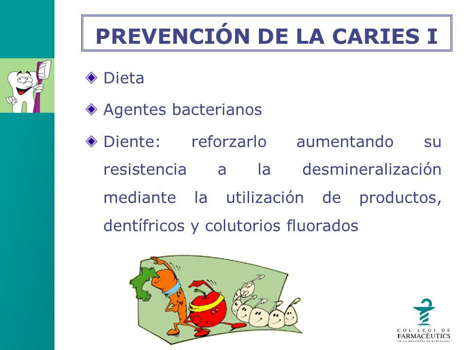 Dieta Agentes bacterianos Diente: reforzarlo aumentando su resistencia a la desmineralización mediante la utilización de productos, dentífricos y colu