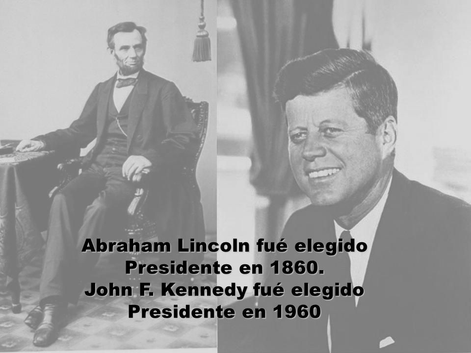 Abraham Lincoln fué elegido Presidente en 1860. John F. Kennedy fué elegido Presidente en 1960