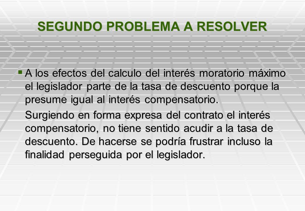 SEGUNDO PROBLEMA A RESOLVER INTERES MORATORIO MAXIMO Artículo 4º. El instrumento deberá contener esencialmente: …….. K) El tipo de interés moratorio p