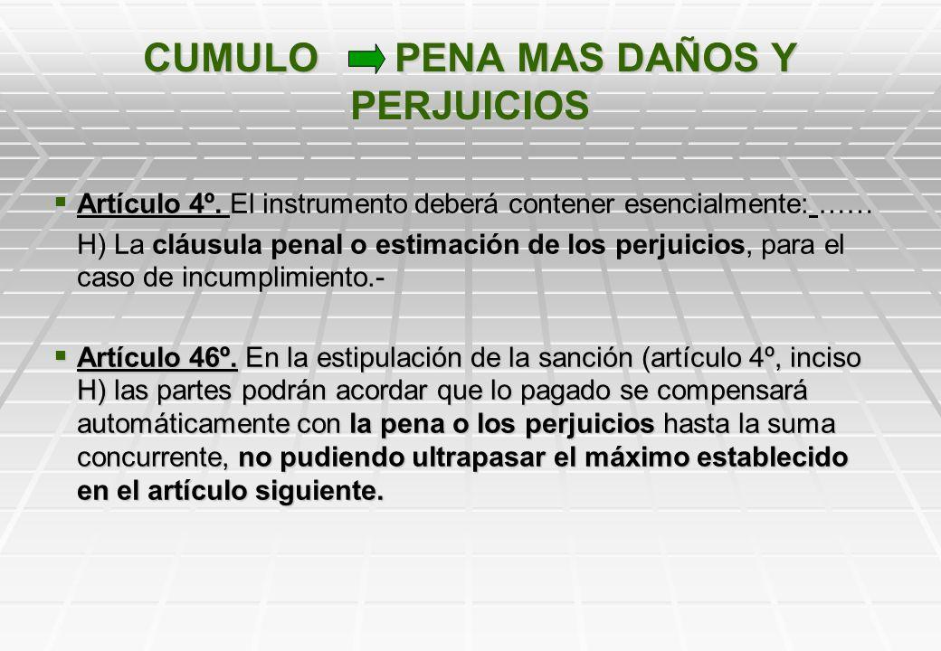 ARTICULO 47 DE LA LEY 8.733 VERSUS ARTICULO 1370 DEL CODIGO CIVIL Mientras que el artículo 47 de la ley 8.733 posibilita el aumento de la pena en la m