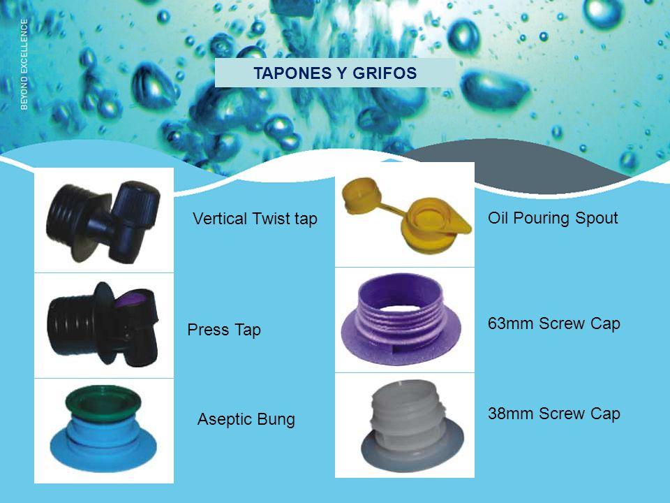TAPONES Y GRIFOS Vertical Twist tap Press Tap Aseptic Bung Oil Pouring Spout 63mm Screw Cap 38mm Screw Cap