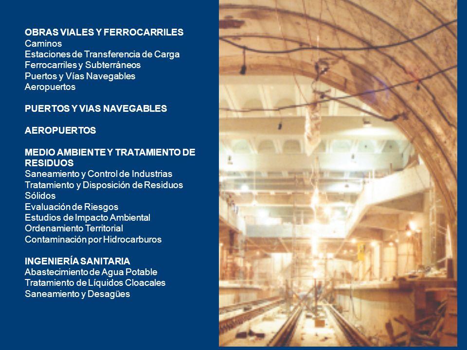 OBRAS VIALES Y FERROCARRILES Caminos Estaciones de Transferencia de Carga Ferrocarriles y Subterráneos Puertos y Vías Navegables Aeropuertos PUERTOS Y