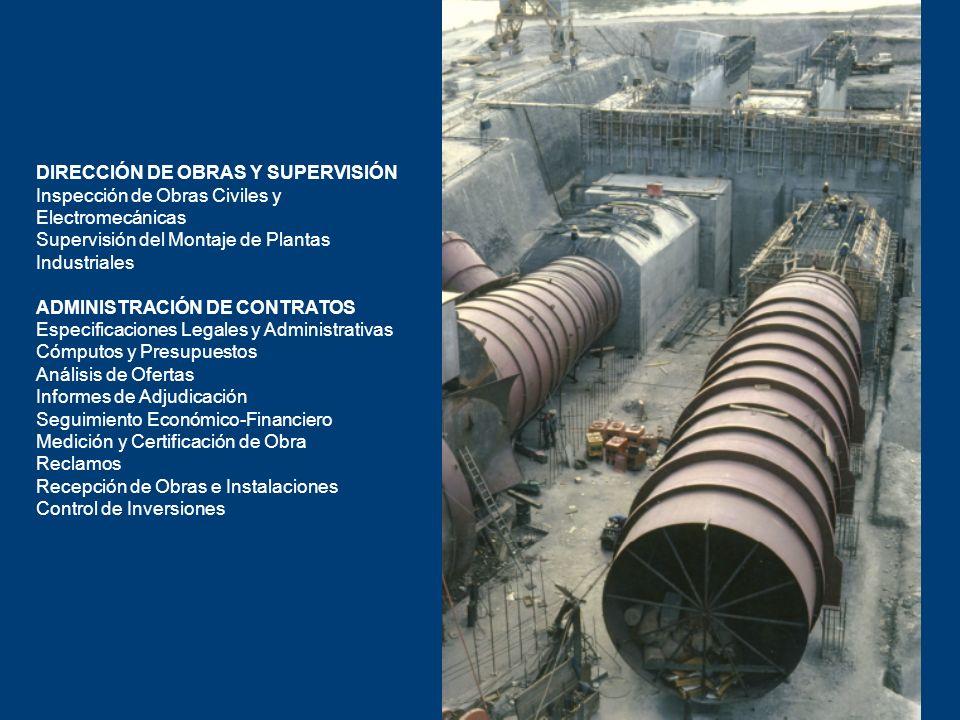 DIRECCIÓN DE OBRAS Y SUPERVISIÓN Inspección de Obras Civiles y Electromecánicas Supervisión del Montaje de Plantas Industriales ADMINISTRACIÓN DE CONT