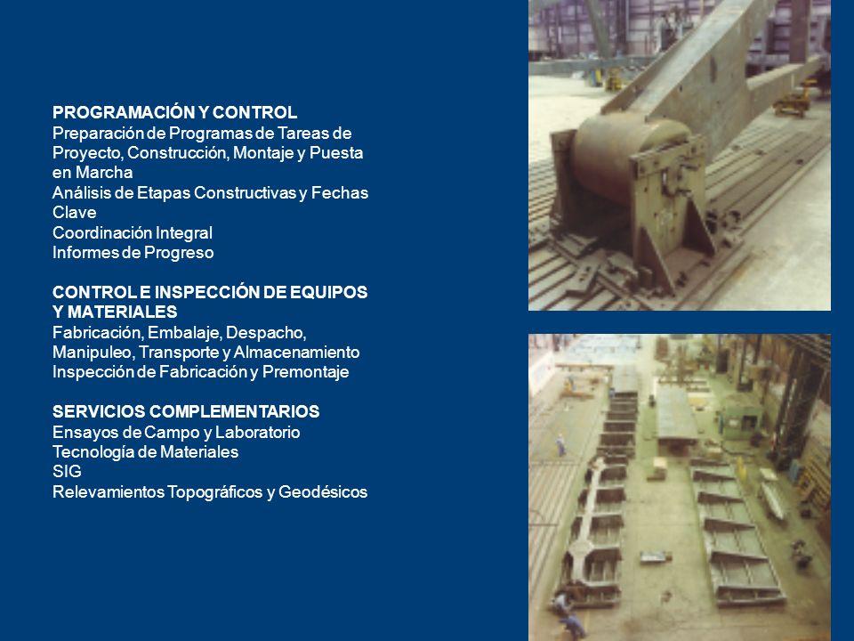PROGRAMACIÓN Y CONTROL Preparación de Programas de Tareas de Proyecto, Construcción, Montaje y Puesta en Marcha Análisis de Etapas Constructivas y Fec