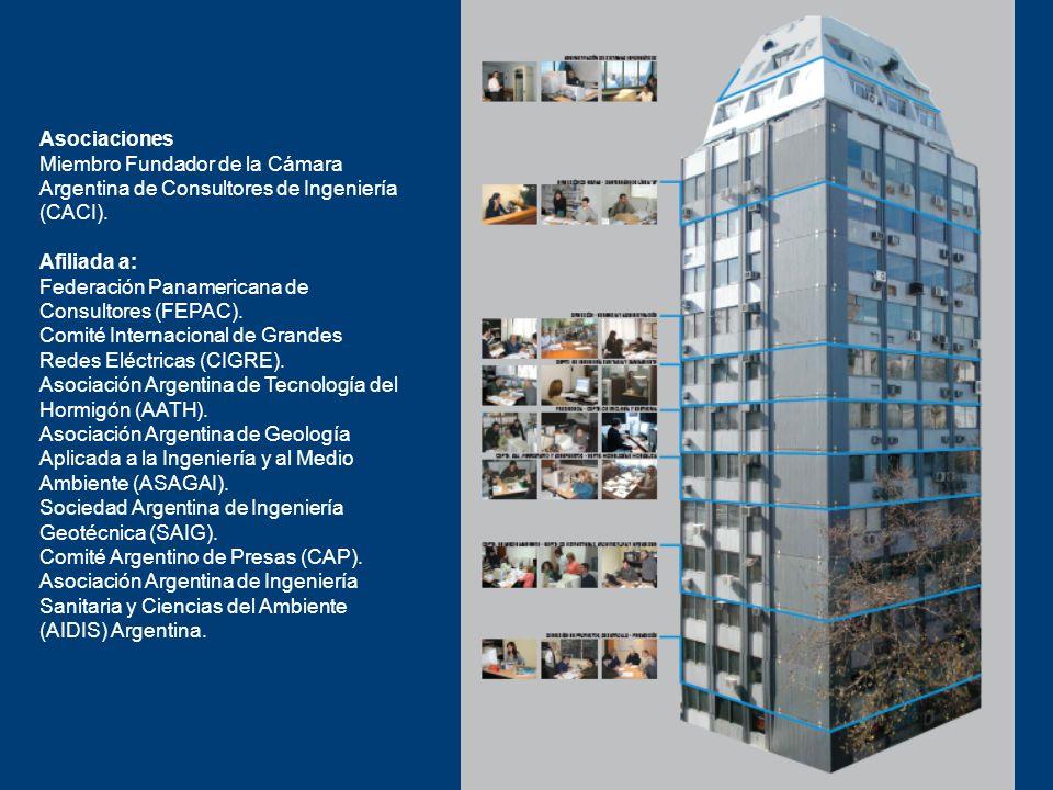 Asociaciones Miembro Fundador de la Cámara Argentina de Consultores de Ingeniería (CACI). Afiliada a: Federación Panamericana de Consultores (FEPAC).