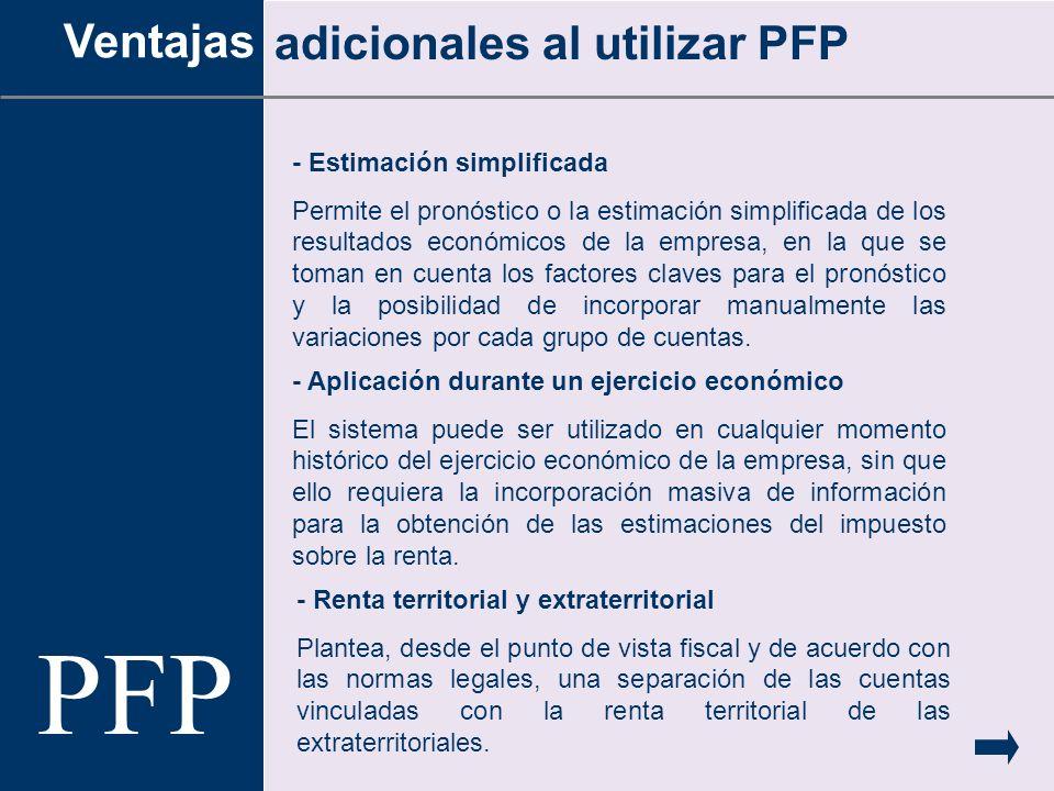 - Estimación simplificada Permite el pronóstico o la estimación simplificada de los resultados económicos de la empresa, en la que se toman en cuenta
