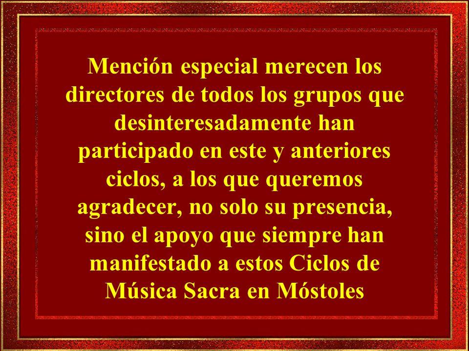 1.- Sanctus (Misa alemana).F. Schubert 2.- Jesu dulcis memoria.