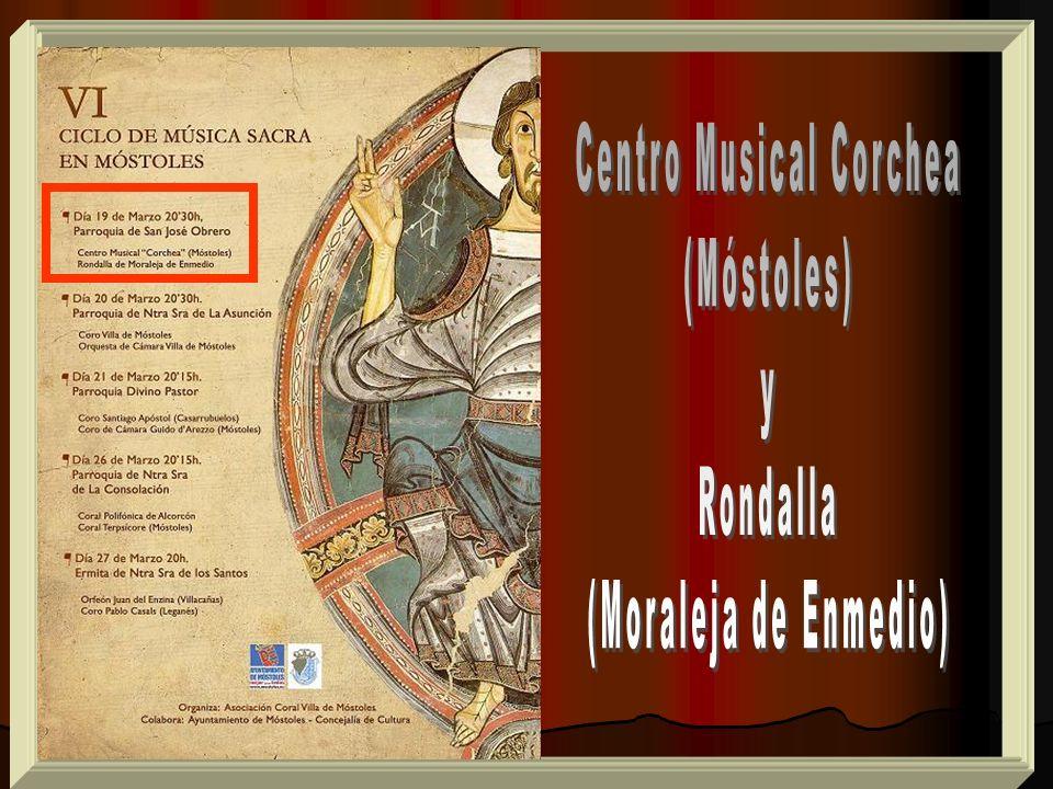 1.- Kyrie.- W.A.Mozart. 2.- O bone Jesu. J. Anchieta 3.- Locus iste.