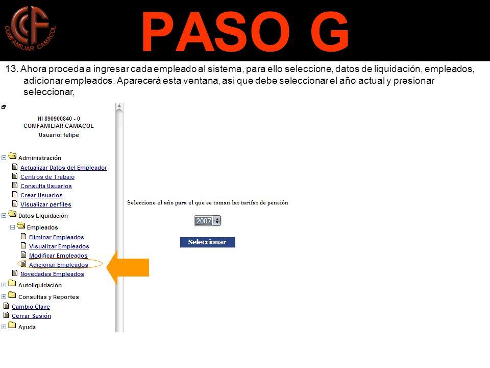 PASO G 13.