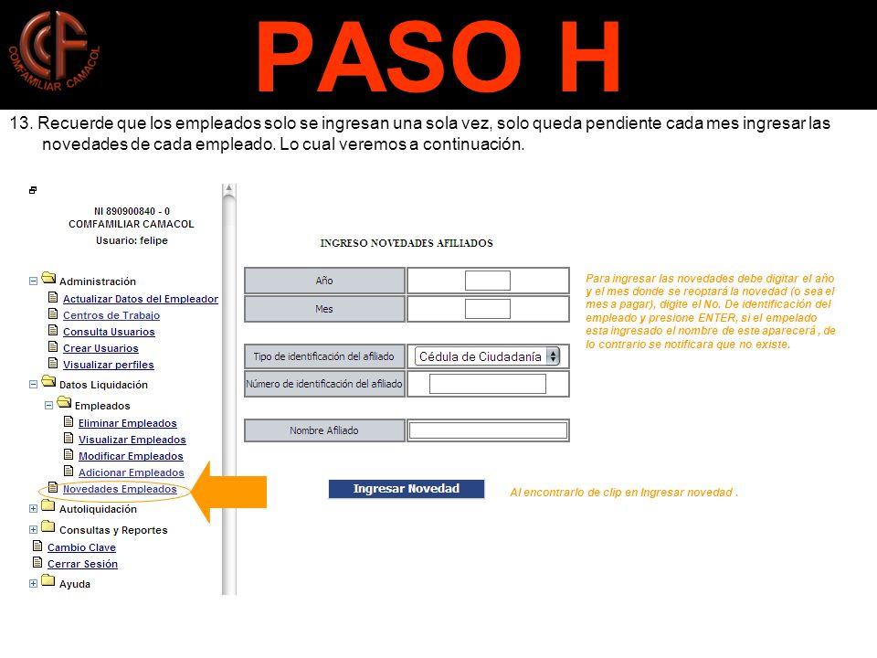 PASO H 13.