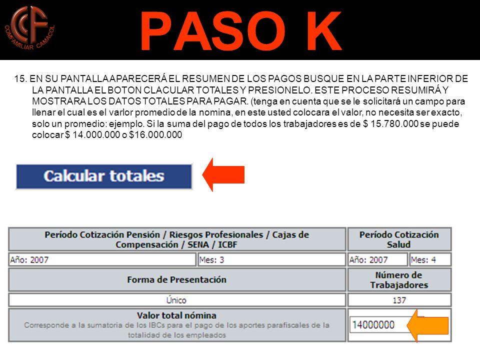 PASO K 15.