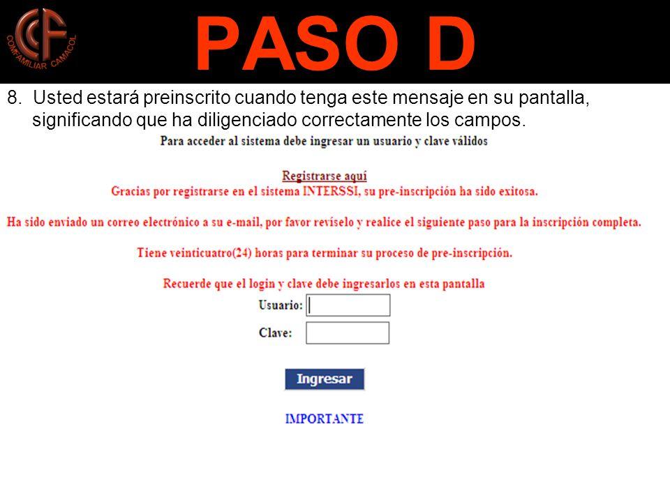 PASO D 8.